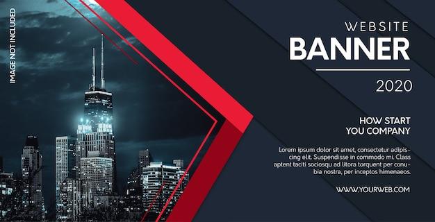 Banner del sito web professionale