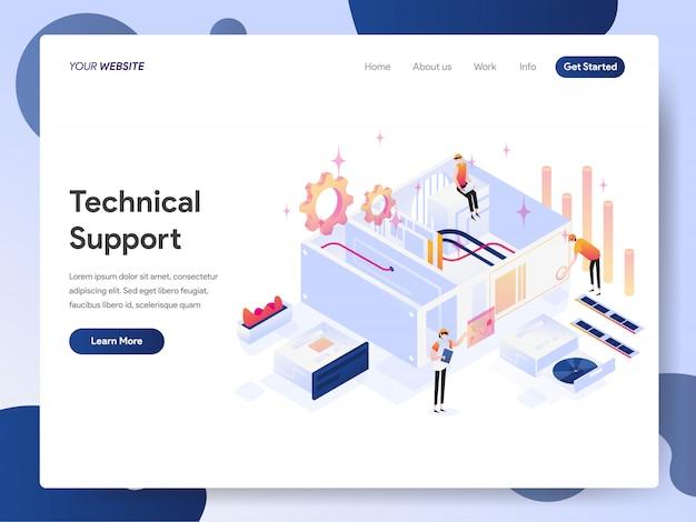 Banner dell'assistenza tecnica della landing page