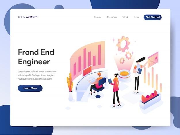 Banner dell'ingegnere front-end della landing page