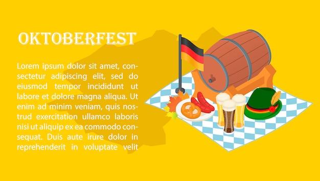 Banner della birra fest di ottobre