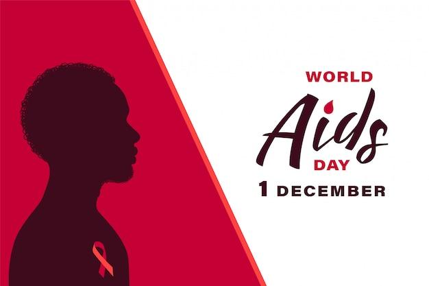 Banner della giornata mondiale dell'aids