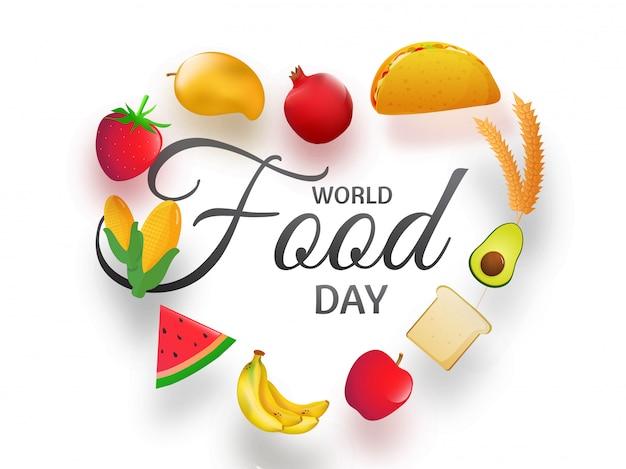 Banner della giornata mondiale dell'alimentazione.