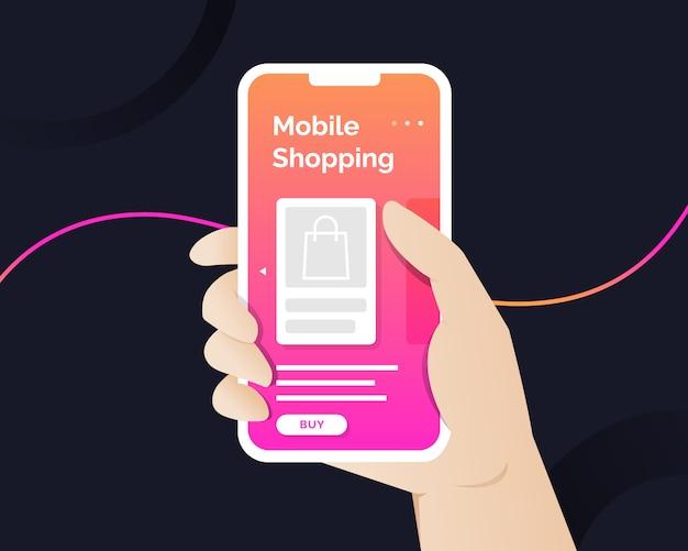 Banner dello shopping mobile