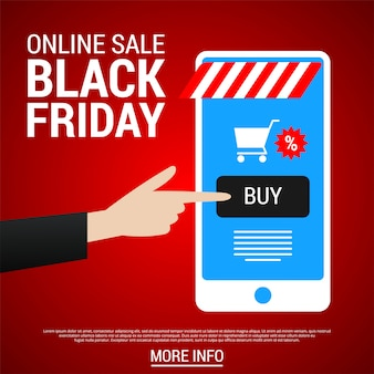 Banner dello shopping online del black friday