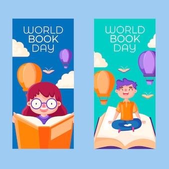 Banner design giornata mondiale del libro design