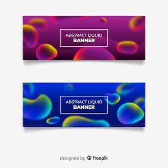 Banner design liquido astratto