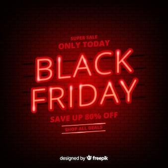 Banner design venerdì nero design piatto