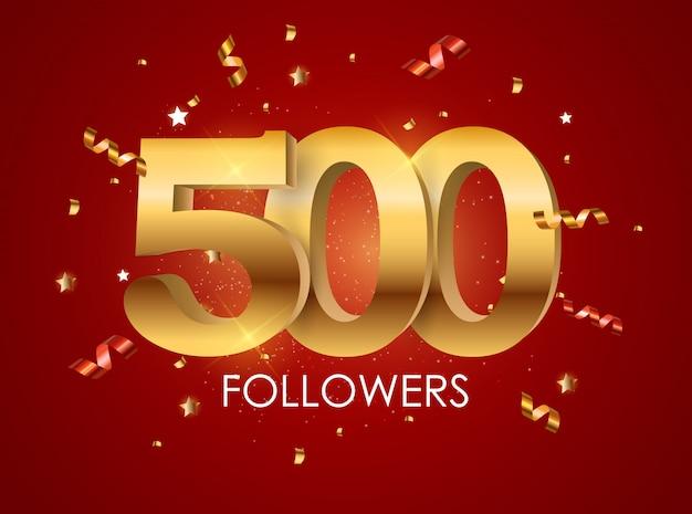 Banner di 500 follower