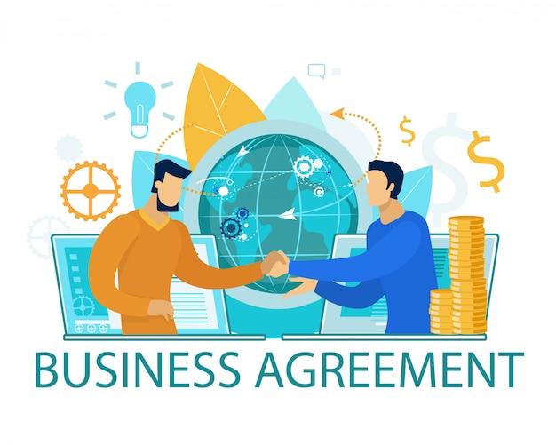 Banner di accordo commerciale