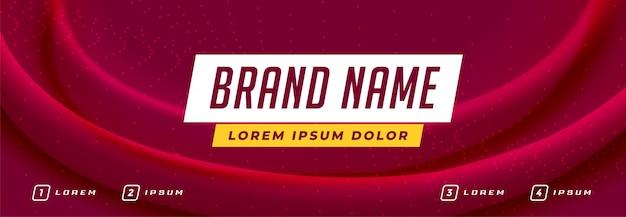 Banner di affari con spazio per il vostro testo