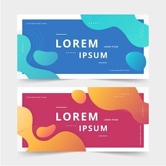 Banner di affari di colore liquido vibrante