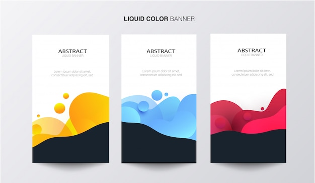 Banner di affari di colore liquido