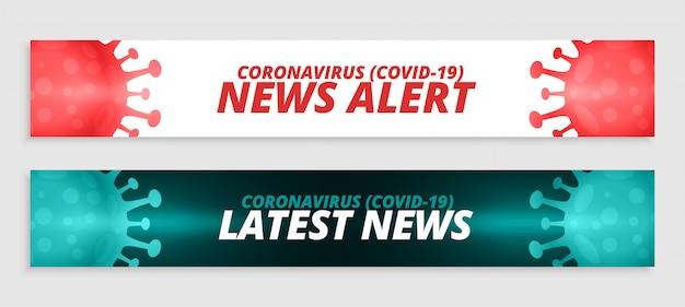 Banner di allerta ultime notizie di coronavirus covid-19