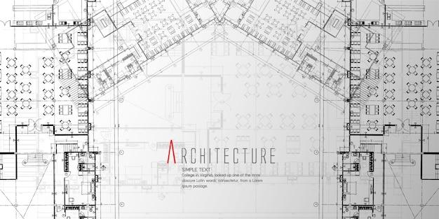 Banner di architettura simmetrica