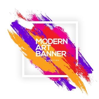 Banner di arte moderna