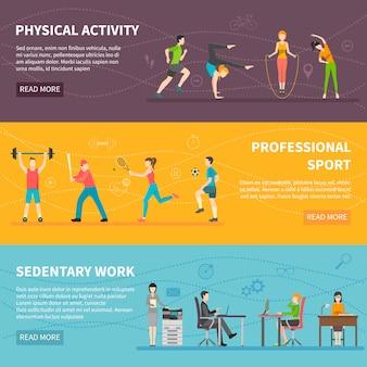 Banner di attività fisica