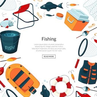 Banner di attrezzatura da pesca
