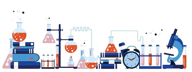 Banner di attrezzature di laboratorio