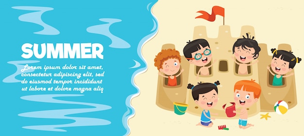 Banner di bambini estivi