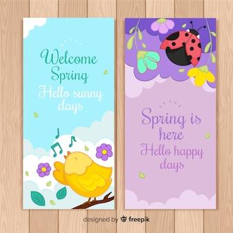 Banner di benvenuto di primavera