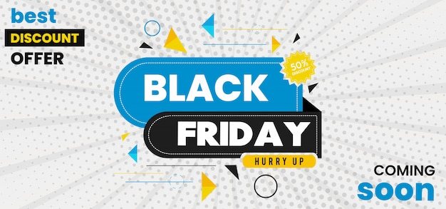 Banner di black friday di vettore