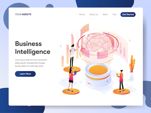 Banner di business intelligence della landing page