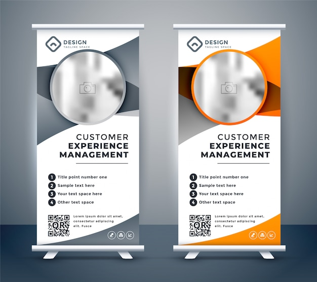 Banner di business rollup per il marketing