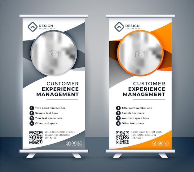 Banner di business rollup per il marketing
