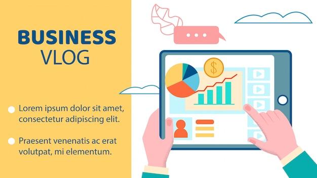 Banner di business video blog