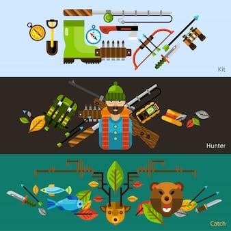 Banner di caccia e pesca