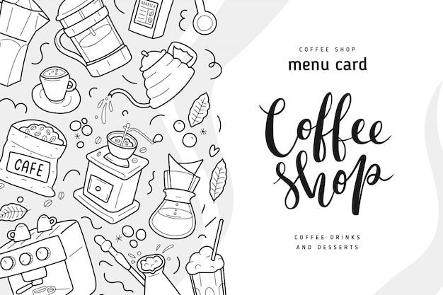 Banner di caffetteria con scritte