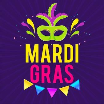 Banner di carnevale di venezia per mardi gras