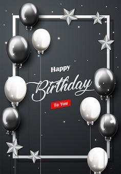 Banner di celebrazione buon compleanno partito