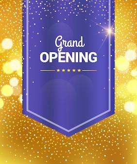 Banner di celebrazione di grande apertura