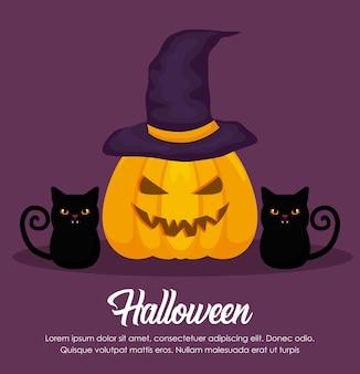 Banner di celebrazione di halloween