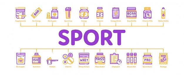 Banner di cellule di nutrizione sportiva