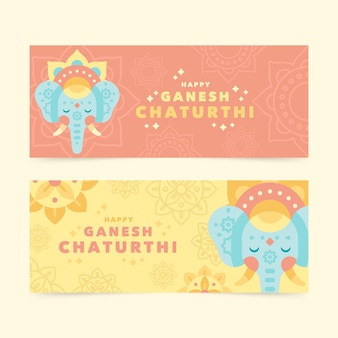 Banner di chatanthi piatto ganesh