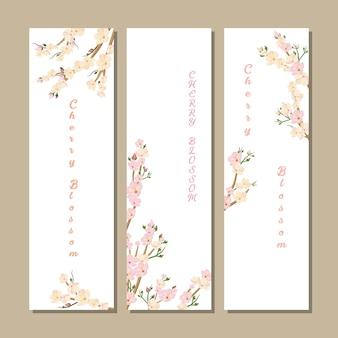 Banner di cherry blossom per il festival di primavera