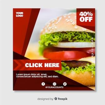 Banner di cibo quadrato