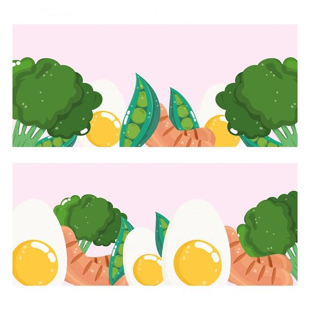 Banner di cibo sano