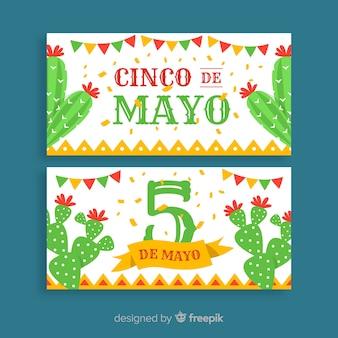 Banner di cinco de mayo