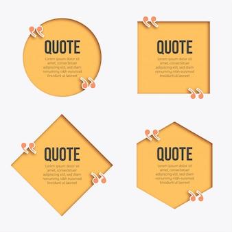Banner di citazione moderna papercut