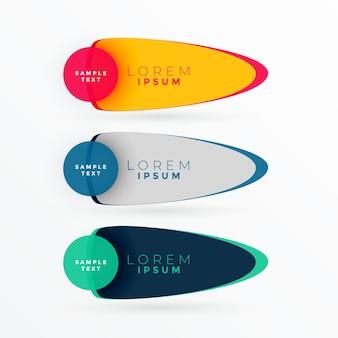 Banner di colore brillante con lo spazio del testo