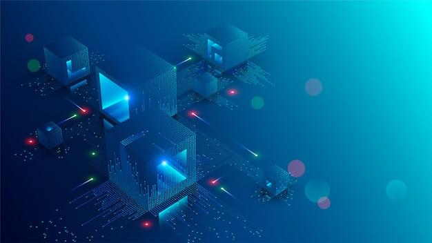 Banner di concetto blockchain