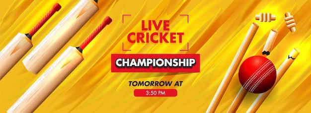 Banner di concetto di cricket.