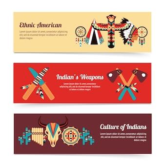 Banner di concetto di design etnico