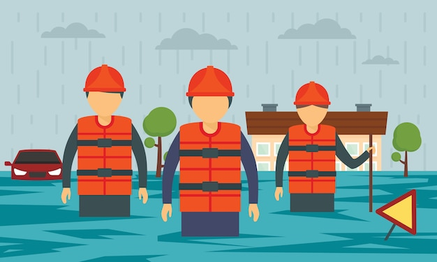 Banner di concetto di inondazione