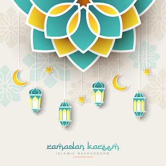 Banner di concetto di ramadan kareem