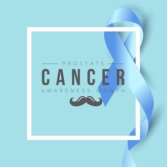 Banner di consapevolezza del cancro nastro blu