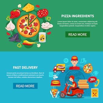 Banner di consegna veloce pizza